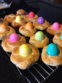 Italian Easter egg Bread Baskets. Nostalgic for me. My mom used to make these for us every year.