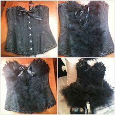Black swan costume.