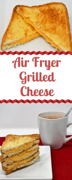 Air Fryer Grilled Cheese Sandwiches ~ Air Fryer Grilled Cheese Sandwiches are a quick and easy meal or snack when you're short on time. These toasty beauties cook up in 8 minutes or less in the Air Fryer. ** CLICK PIN TO LEARN MORE! Air Fryer Recipes Potatoes, Air Fryer Dinner Recipes, Air Fryer Oven Recipes, Air Fryer Recipes Appetizers, Air Fryer Recipes Pork Loin, Power Air Fryer Recipes, Avocado Toast, Sauce Pizza, Air Frier Recipes