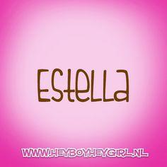 Estella (Voor meer inspiratie, en unieke geboortekaartjes kijk op www.heyboyheygirl.nl)