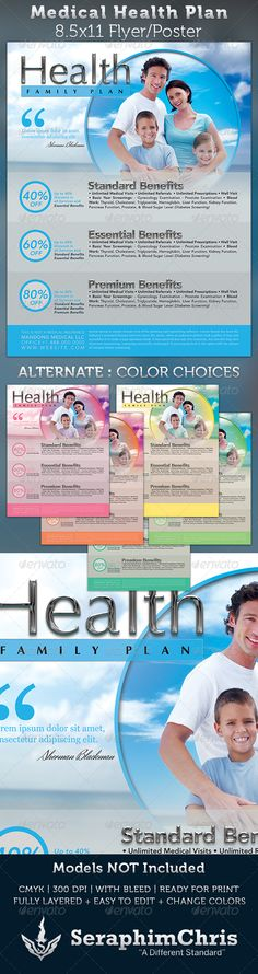 Health Clinic Flyer Template 92 | Flyer Template, Health And Templates