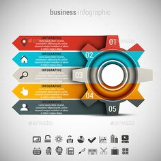 Buy Business Infographic by grki on GraphicRiver. Vector illustration of business infographic made of gear. ZIP includes free font link, A. Infographic Template Powerpoint, Powerpoint Design Templates, Graphic Design Brochure, Background Design Vector, Instructional Design, Design Graphique, Photoshop, Data Visualization, Business Design