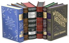 Barnes & Noble Leatherbound Classics offer the largest selection of classics in a beautiful, low-cost format. There are nearly 90 classics in this collection versus about 30 in the Penguin Clothbound set. These faux leather bound tomes range from $18 to $20 for adult books and $9 for children's books. Many feature full color illustrations.