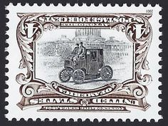 United States Scott #3505c (29 Mar 2001) Electric Automobile in Washington. Pan-American Exposition invert stamps Centennial. Reproduction of U.S. Scott #296a (01 May 1901) ...center inverted! The Pan-American Exposition was a World's Fair held in Buffalo, New York, U.S.A., from May 1 through November 2, 1901. The exposition is most remembered because President William McKinley was shot by an anarchist, Leon Czolgosz, at the Temple of Music on September 6, 1901; the President died 8 days…
