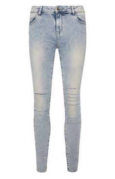 Primark - Light Blue Rip Skinny Jeans