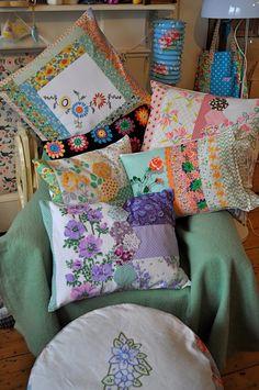 HenHouse Emporium: flea market cushion