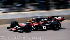 David Hobbs Factory McLaren M16D Indy 500 1974 Indy Car Racing, Indy Cars, Racing Team, David Hobbs, Bruce Mclaren, Mclaren Cars, Ground Effects, Cars Series, Vintage Racing