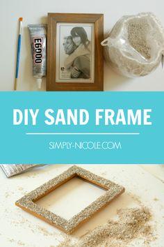 #WayfairCraftSwap @wayfair @WFHomemakers   DIY Sand Frame #ad