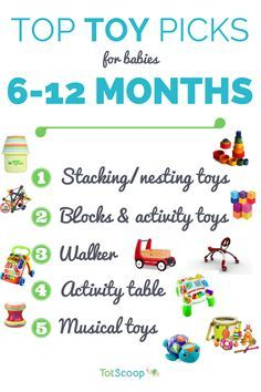 Here is an overview of our top toy categories for 6 12 month olds