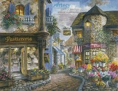 Bello Piazza by Nicky Boehme, cross stitch chart only (kit available from…