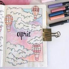 41 Bullet Journal Monthly Cover Ideas You Must Try - Its Claudia G If you're looking for bullet journal monthly cover ideas, you should check these bullet journal ideas for every month of the year! Bullet Journal School, April Bullet Journal, Bullet Journal Writing, Bullet Journal Banner, Bullet Journal Cover Page, Bullet Journal Aesthetic, Bullet Journal Ideas Pages, Bullet Journal Spread, Bullet Journal Layout