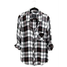 """RAILS Hunter Button Down Shirt Black Cherry XS Description (from shopbop.com): A classic plaid shirt, styled with a fold-over collar and button placket. Patch breast pocket. Long sleeves and button cuffs. 100% rayon. Size: XS US. I'm 5'0"""", 95 lbs, 30-23-32, and this top fits me for a slightly loose fit, not oversize. I have a few Rails shirts, and this one seems to fit a bit smaller. Condition: Excellent used condition. Worn maybe 2-3 times and washed on gentle cycle once. Very minimal…"""