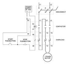 Delta wye motor connection diagram e pinterest diagram single phase motor control wiring diagram electrical engineering world asfbconference2016 Images