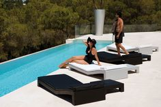 JUT sun lounger, designed by Studio Vondom, for Vondom.