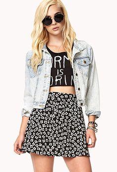 Floral Skater Skirt | FOREVER21 - 2040496446