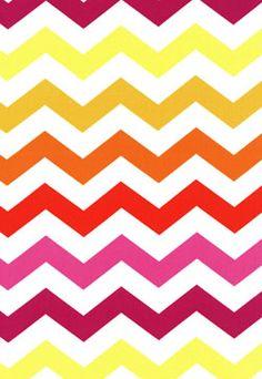 Michael Miller Couture Stripes Chevron  Tangerine