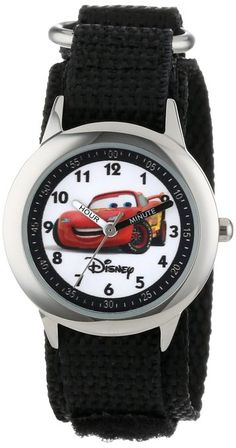 "Disney Kids' W000093 Cars ""Time Teacher"" Stainless Steel Watch with Nylon Band"