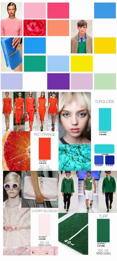 FASHION VIGNETTE: TRENDS // TREND COUNCIL . COLORS - SPRING/SUMMER 2015