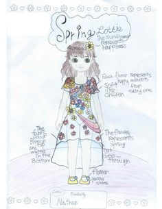 """Lottie Outfit Design! """"Spring Lottie"""" Nathan (age 12) China."""