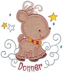 Santa's Sleigh 7B (Donner) Applique - 3 Sizes! | What's New | Machine Embroidery Designs | SWAKembroidery.com Bunnycup Embroidery