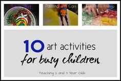 Art activities for 2 & 3 year olds