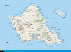 Printable Maps of O'ahu, Hawaii