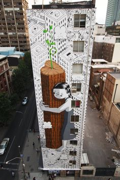 Millo 'Nevergiveup' New mural in Santiago, Chile  | Urbanite