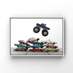 Title Monster Truck Monster Truck Car Jump This listing is for One print of a vintage Matchbox Truck made in the 80s but modeled after the original Monster 1974 Ford F-250 Please select either photo or canvas as well as the size youd like from the drop down menu as you place it in your cart. Pricing Playroom Decor, Boys Room Decor, Boy Room, Wall Decor, Monster Truck Cars, Monster Truck Bedroom, Professional Photo Lab, Wall Prints, Photo Wall Art