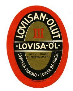 Loviisan Olut, Loviisan panimo, #olut #etiketit #beer #labels