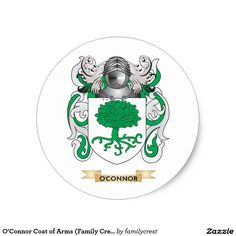 O'Connor Coat of Arms (Family Crest) Classic Round Sticker