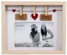 Clothes Line Wooden Box Frame With Pegs For 6 X 4 Photo - Best Friends Clothes . Clothes Line Wooden Box Frame With Pegs For 6 X 4 Photo – Best Friends Clothes Line Wooden Box F Diy Gifts For Friends, Birthday Gifts For Best Friend, Best Friend Gifts, Photo Best Friends, Best Friend Photos, Box Frame Art, Diy Frame, Best Friend Picture Frames, Cadre Photo Diy