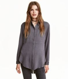 Twill shirt   Dark grey   Ladies   H&M CA