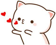 Cute Cartoon Pictures, Cute Pictures, Cute Gif, Funny Cute, Cute Anime Cat, Cute Baby Quotes, Bear Gif, Cat Hug, Chibi Cat