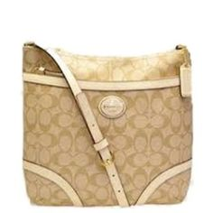 Coach Leather Peyton File Crossbody Bag