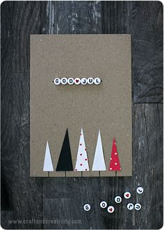 Julkort Med Bokstavspärlor Christmas Cards With Letter Beads Craft Creativity - Weihnachten Homemade Christmas Cards, Christmas Crafts For Kids, Xmas Crafts, Holiday Cards, Christmas Diy, Diy And Crafts, Christmas Ornaments, Christmas Cards Handmade Kids, Christmas Stars