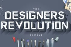 This colossal bundle includes banners, fonts, mock-ups, illustrations, watercolors, craft items, patterns, textures, effects and more. Designers Revolution Bundle from DesignBundles.net