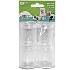 Lot de 4 boites en plastique Cropper Hopper, pour ranger vos petits embellissements.