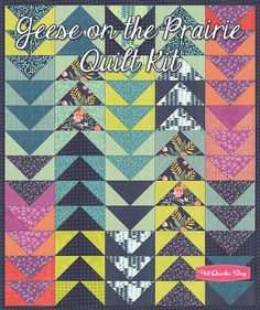 Geese on the Prairie Quilt KitFeaturing Tucker Prairie by One Canoe Two - Tucker Prairie - Moda Fabrics | Fat Quarter Shop