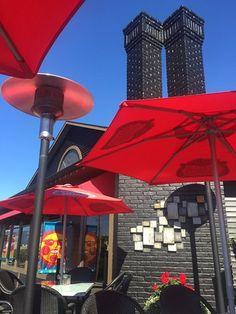 The outdoor patio, Blackfin Pub, 132 Port Augusta St, Comox, British Columbia