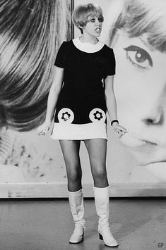 "Barbara Ruskin, 1968. Probably singing ""Pawnbroker Pawnbroker""."