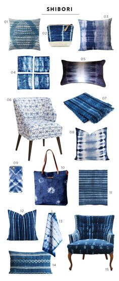 We're sharing an easy tutorial for popular shibori patterns! Click over to the blog to see how we transformed an ordinary corner nook with indigo pillows.