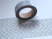Washitape Maskingtape Tape grau PUNKTE gestrichelt