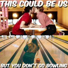 Bowling at Boondocks makes a perfect first date. Plus, it's cheaper than a movie! #bowling #firstdate #love