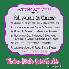 ∆ Moon Magick... ★ Witchy things to do on this Christmas Full Moon in Cancer ★