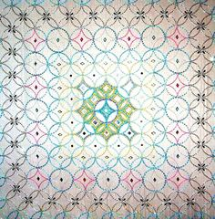"""contemporary Islamic textile work by Ruqqia Badran """"Collectively we are threads & jewels"""""""