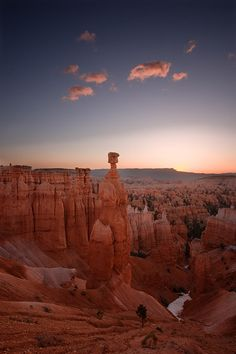 Thor's Hammer in pre-dawn light, Bryce Canyon National Park, Utah