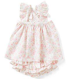 Edgehill Collection Baby Girls 324 Months Polka Dot Smock Dress