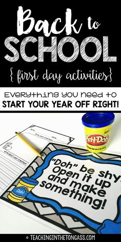 Back to school! First day of school activities that allow you to deal with the morning chaos!