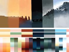 Color palettes used in Journey. I have no source, but I'd really like one!