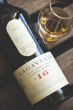 The Lagavulin, 16 year aged, single malt, Islay, scotch whisky. Cigars And Whiskey, Bourbon Whiskey, Scotch Whisky, Whisky Cocktail, The Distillers, Single Malt Whisky, Liqueur, In Vino Veritas, Wine And Spirits